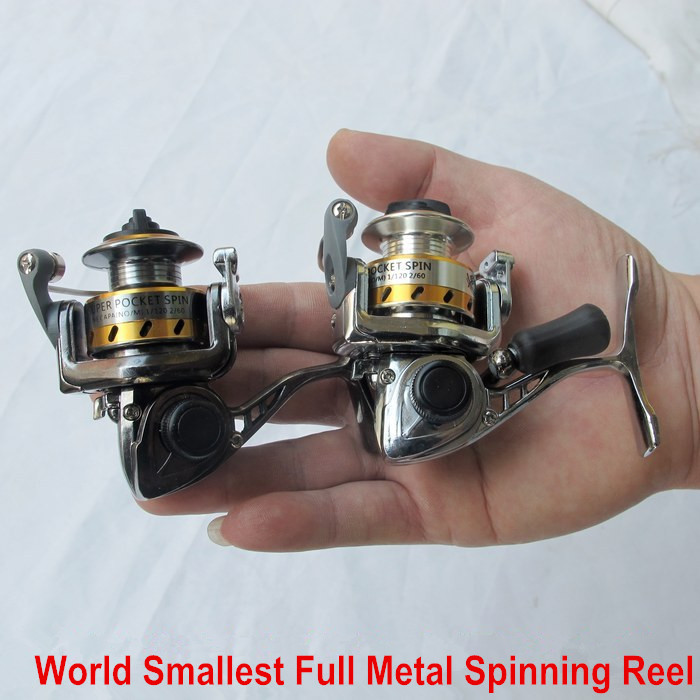 Mn100 Fishing Reel World S Smallest Full Metal Mini Ice Ralfting Lure Winter Pen Rod Spinning In Reels From Sports Entertainment On