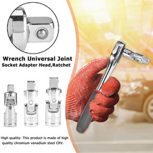 3pcs Set Car Modification Ratchet Wrench Socket Adapter Quenching Heat Treatment Sleeve Bar Repair Swivel Joints ratchet swivel автоdело 39721 1 2 l 430mm