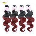 Brazilian Virgin Hair Ombre 7A Brazilian Virgin Hair Ombre 4 Bundles Ombre Human Hair Extensions Burgundy Virgin Hair