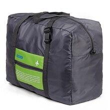Купить с кэшбэком Travel Duffle Bag Nylon Packing Cubes Large Capacity Folding Bag Sport Weekender Bag Travel Men Women Luggage Travel Bags X030