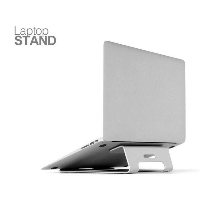 "Silver Universal Aluminum Laptop Stand Tablet Holder Bracket Cooling Desk Pad for MacBook Pro Air 11"" to 15"""