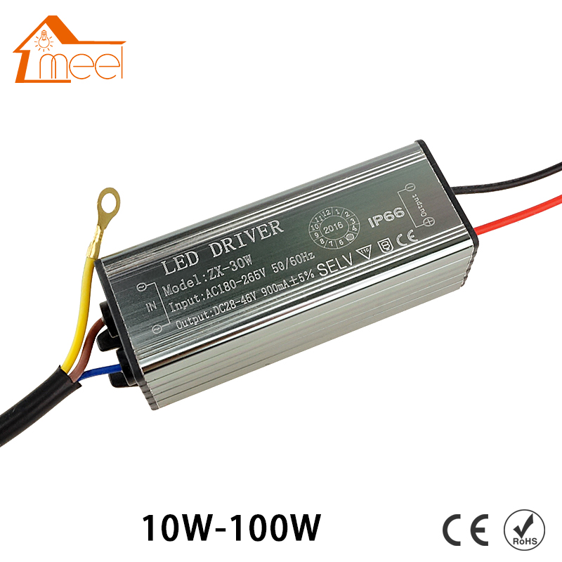 цена на AC180-265V to DC28-46V LED Driver Adapter Transformer 10W 20W 30W 50W Waterproof IP66 LED Driver Power Supply For Floodlight
