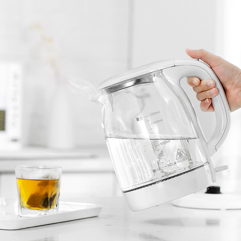 Glass electric kettle household stainless steel 304 food grade 1.7L boiling tea health high boron silicon armor 1kg food grade l threonine 99% l threonine