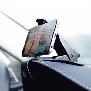 Image 3 - 6.5inch Dashboard Auto Telefoon Houder Gemakkelijk Clip Mount Stand Auto Telefoon Houder GPS Display Beugel Klassieke Zwarte Auto Houder ondersteuning