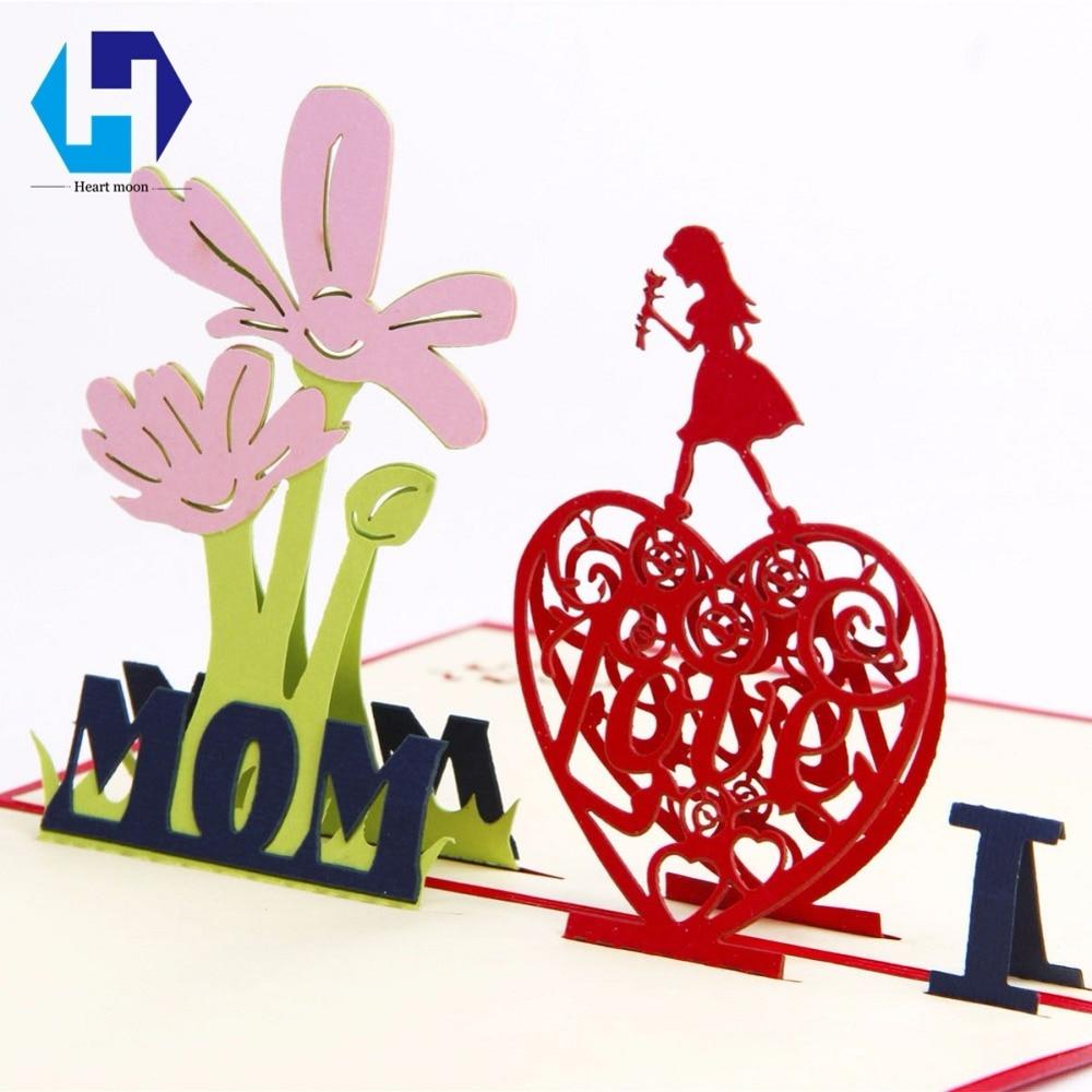 3d Pop Up Hari Ibu Kartu Pos Cinta Hadiah Terima Kasih Ucapan Kupon Souvenir Pernikahan 28 Dengan Amplop Festival Bunga Laser Memotong Hollow Buatan Tangan Di Undangan