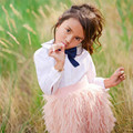 FashionIns Hot Girls Faux Fur Falda Rosada de La Princesa de Felpa Negro corta Falda Tutú Mullido Saia Jupe Enfant Invierno Autumm Primavera 1-5 T