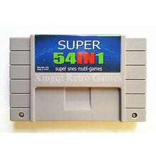 Super Nintendo SFC/SNES Супер 54 в 1 Видеоигры Картридж Консоли Карта США Версия Английского Языка Коллекция