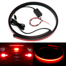 купить 180PCS LED Red Flowing Flashing Car Third Brake Light 12V 24V High Mount Stop Rear Tail Warning Light Lamp Third 3RD Brake Light по цене 1008.23 рублей