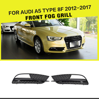 ABS Mesh Black Car Fog Light Grille Covers for Audi A5 8F Standard Bumper Only 2012 2017