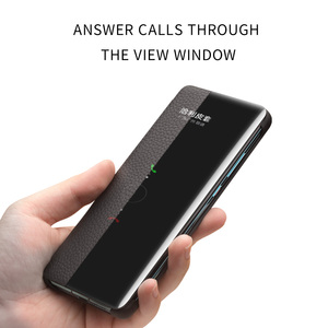 Image 3 - QIALINO אופנה אמיתי עור Flip Case עבור Huawei P30 פרו 6.47 אינץ בעבודת יד טלפון כיסוי עם חכם חלון עבור Huawei p30