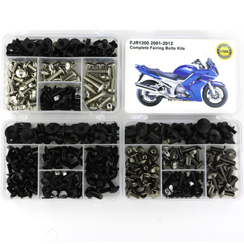 Fit For Yamaha FJR1300 2001-2012 Motorcycle Full Fairing Bolts Kit Bodywork Screws Speed Nut Complete Fairing Clips Nuts Steel for yamaha tmax 530 tmax530 2012 2019 complete full fairing bolts kit bodywork screws steel clips speed nuts covering bolts