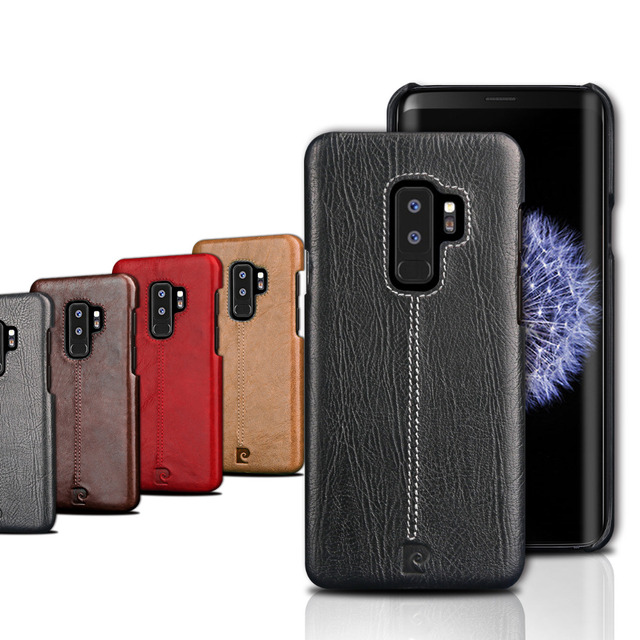 best sneakers 9baca b18d4 US $30.0 |For Samung S9 Plus Original Pierre Cardin Case Luxury Brand  Genuine Leather Case Hard Back Case Case Ultra Slim Protector Cover-in  Fitted ...
