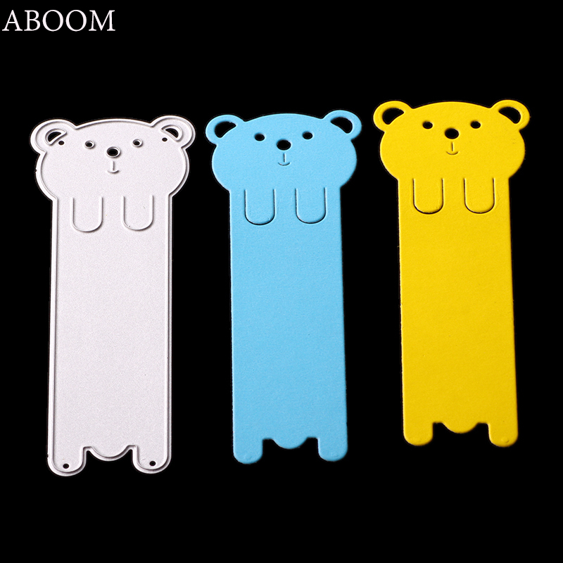 ABOOM New Animal Bear Tag Metal Cutting Dies Stencils For DIY Scrapbooking Album Paper Cards Decorative Crafts Embossing Die Cut image
