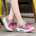 Сладкий стиль Леди девушки лето клин обувь для похудения Прекрасный милый ежедневно уличные обувь для ходьбы Женщины Красивые сандалии mujer снаружи