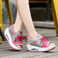 Sweet style Lady girls summer wedge slimming shoes Lovely cute daily street walking shoes Women Beautiful sandals mujer outside