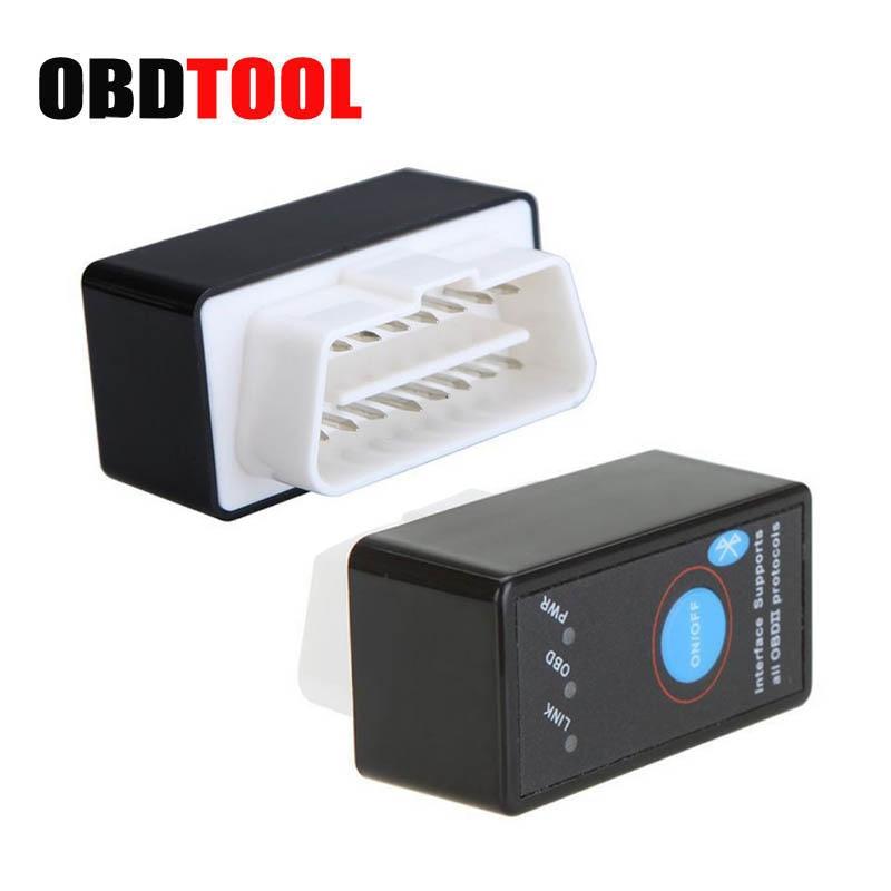 ELM327 V1.5 V2.1 Bluetooth מתג PIC18F25K80 ELM 327 1.5 סורק OBD2 אבחון-כלי EML327 אבחון כלי רכב קוד קורא