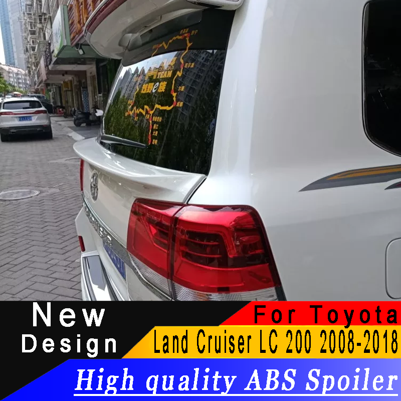 For Toyota Land Cruiser LC200 2008 to 2018 ABS material middle spoiler any color or primer car rear wing car modified spoilerFor Toyota Land Cruiser LC200 2008 to 2018 ABS material middle spoiler any color or primer car rear wing car modified spoiler