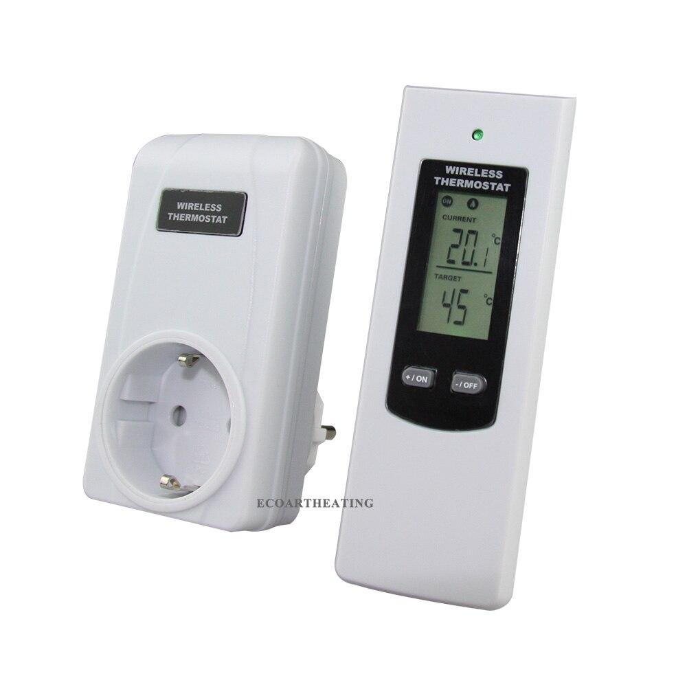 Беспроводной термостат RF Plug In lcd дистанционный термостат для домашнего отопления и охлаждения температуры контроллер