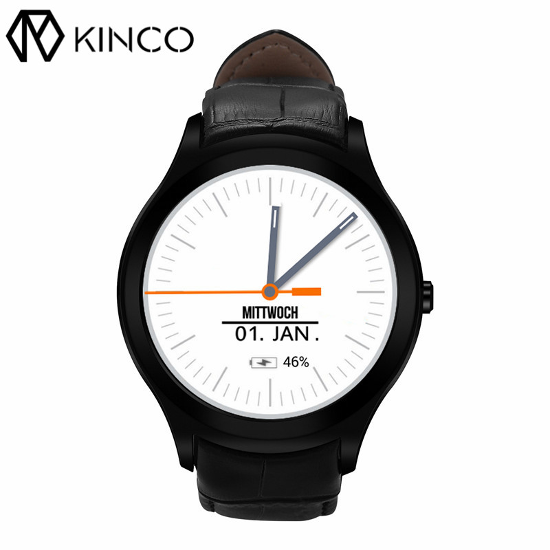 KINCO 1GB+16GB MTK6580 Android 5.1 Wifi GPS 3G SIM Smart Phone Watch Bluetooth Heart Rate Monitor Smart Bracelet for IOS/Android 3g dm368 android 5 1 bluetooth 4 0 1 39 smart watch phone support nano sim card wifi gps map pedometer heart rate monitor