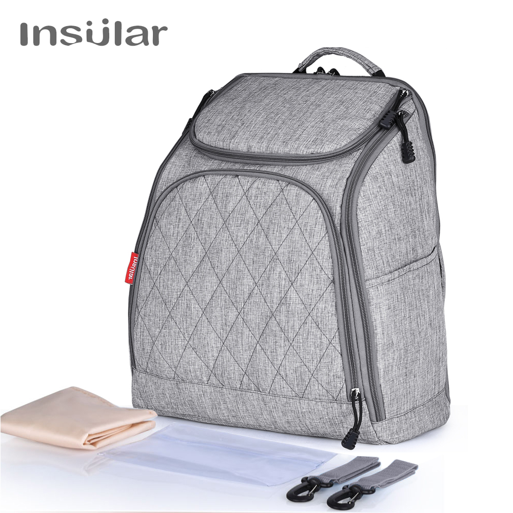 INSULAR Baby Diaper Backpacks Bags Nappy Stroller Bags Multifunctional Maternity Changing Bags For Mommy Women Backpacks