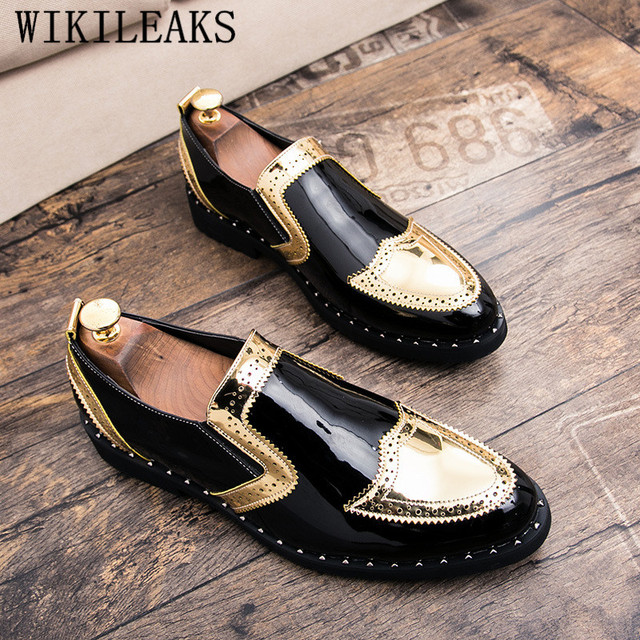 $ US $29.29 Men Brogues Dress Shoes For Office Oxford Shoes For Men Slip On Carved Leisure Flat Men Pointed Toe Oxford Male Wedding Shoes
