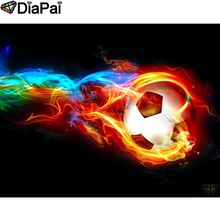 DIAPAI Diamond Painting 5D DIY 100% Full Square/Round Drill Football fire Embroidery Cross Stitch 3D Decor A24802