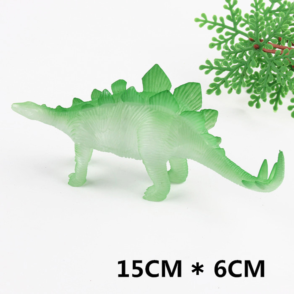 New 8pcs/lot dinosaurs toy noctilucent animal model doll toy 8 kinds dinosaur jurassic toy best gift for boys and girls