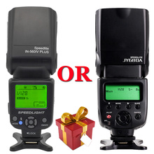 חדש INSEESI ב 560 IV IN-560IV PLUS או Viltrox JY-680A פלאש Speedlite FlashLight JY680A עם מסך LCD עבור Canon Nikon Pentax