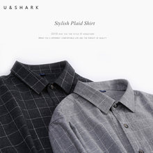 U&SHARK Classic Flannel Plaid Shirts Men Long Sleeve Brand Clothing High Quality 100% Cotton England Stylish Casual Shirts Male