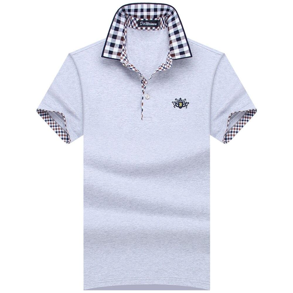 Big Men Shirt 2018 Fashion Men   Polo   Shirt Summer Short Sleeve   Polos   Shirt Mens Striped collar Shirt 95% Cotton Plus Size S-10XL