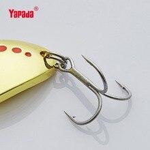 YAPADA Spoon 004 Leech 7.5g/10g/15g/20g Treble HOOK 50mm/55mm/60mm/65mm Metal Spoon Multicolor Fishing Lures