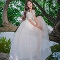 2017 лето Высокое Качество Кружева Подол Платья Принцесс с Поясом Вилка Stick Цветок Рубашка Fairy Dress женская Одежда для свадьба