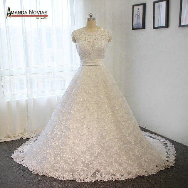319552b14dc6e مخصص جديد اثنان في واحد فستان زفاف موديل 100% الصورة الحقيقية فستان الزفاف