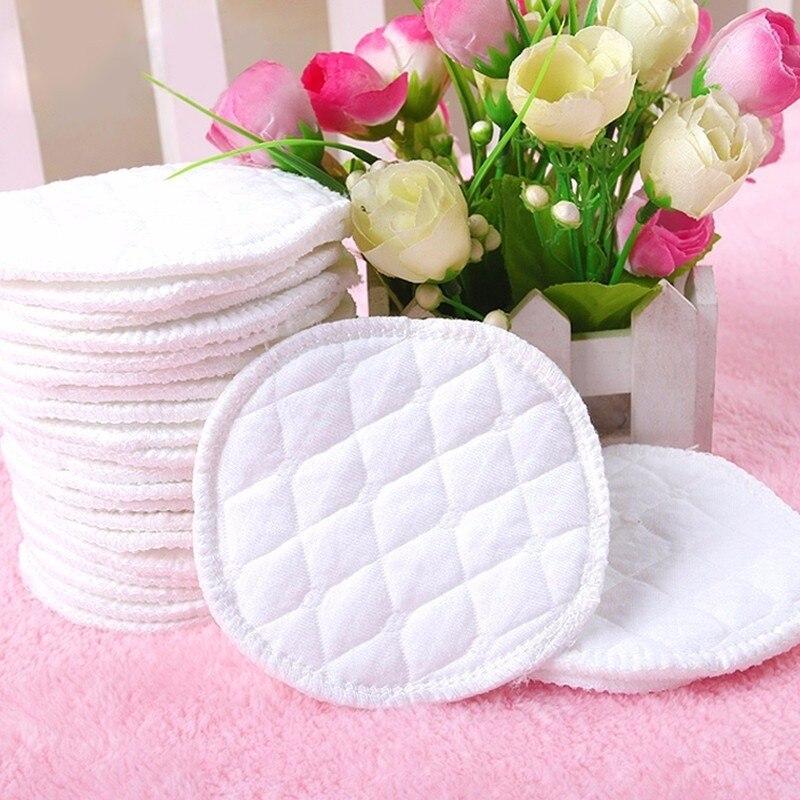 10pcs Três Camadas de Algodão Ecológico Reutilizáveis Almofadas De Mama Enfermagem Amamentação Almofadas Almofadas De Enfermagem Lavável Absorvente Bebê