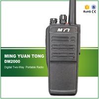 New Arrival Professional UHF 400 470MHZ 5W Black IP 65 Waterproof DMR Digital Handheld Transceiver