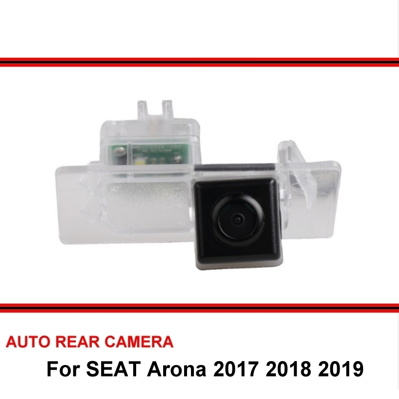 Fisheye SONY For SEAT Arona 2017 2018 2019 Car Rear View Camera Reverse Backup Parking Camera LED Night Vision Wide Angle