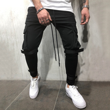 Casual Solid Cotton Ankle-Length Mens Pants Mid Waist Slim Men Pencil Fit Size Masculina Male Trousers D40
