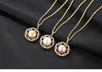 S925 Pearl Necklace Fashion Joker Lady Pendant Accessories HS10