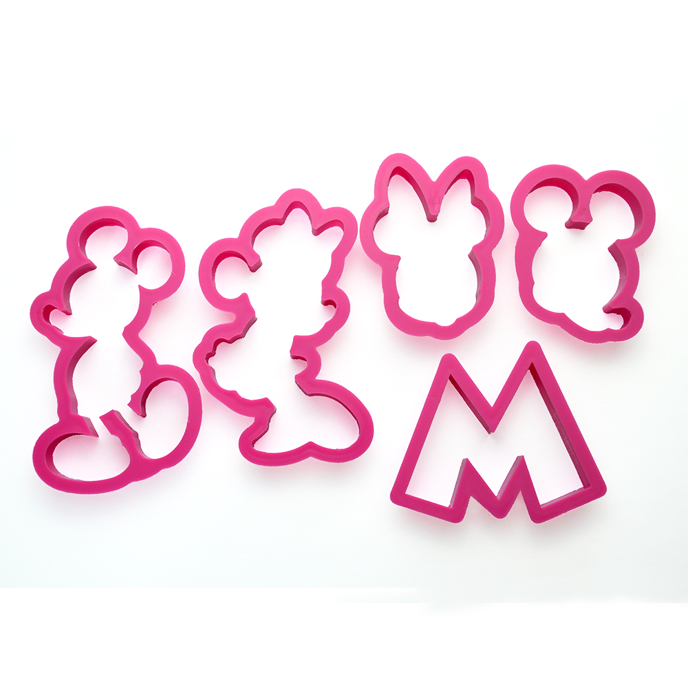 kitchen accessories plastic cartoon mickey mouse biscuit cookies cutter mould