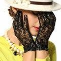 Элегантные Женские Перчатки Из Натуральной Кожи Овчины Кружева Перчатки Высокое Качество, Модные Цвета Дамы Бренд Солнцезащитные Варежки L095N