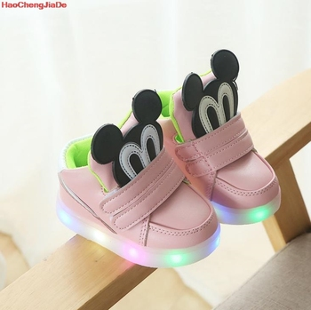 New Autumn Kids Led Shoes Fashion Glowing Sneakers For Girls Boys Cartoon Children Shoes Led Luminous Shoes Sneakers