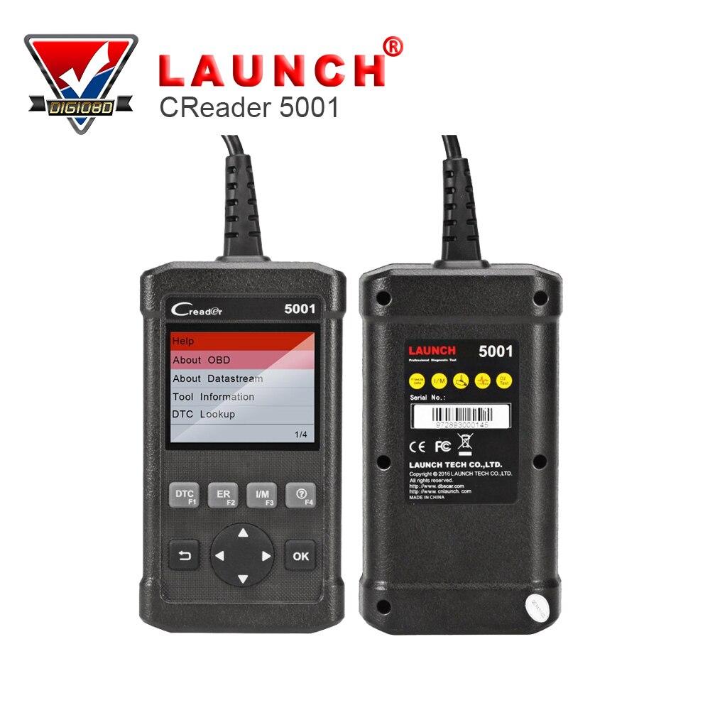 Цена за Запуск Creader 5001 инструмент диагностики Полный функции OBD2 сканер с O2 Сенсор Тесты и на борту Мониторы Тесты