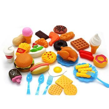 RCtown z tworzywa sztucznego Fast Food zestaw do gry Mini Hamburg frytki Hot Dog lody Cola z zabawkami dla dzieci udawaj że prezent dla dzieci tanie i dobre opinie CN (pochodzenie) Zestaw zabawek kuchennych Unisex 3 lat KİTCHEN fast food playset