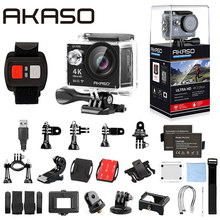 EK7000 4 К WI-FI открытый akaso EK7000 Экшн-камера Ultra HD Водонепроницаемый видеокамера 12MP 170 градусов Широкий формат