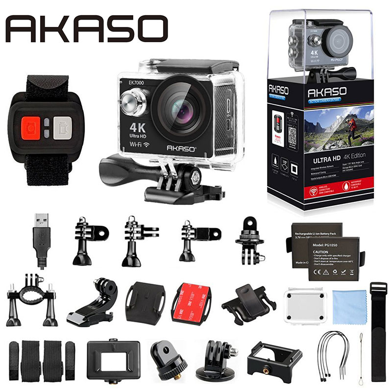 AKASO EK K WIFI Sports Action Camera Ultra HD Waterproof DV Camcorder