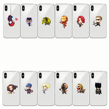 soft silicone cover Comics DC Iron Man Spider-Man joker Batman for iphone 11 5S SE 7 6 6S 8 plusXR XS MAX