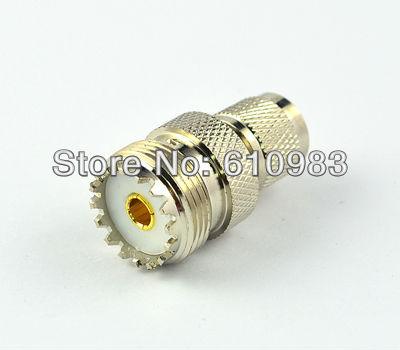 Free Shipping 5 PCS Mini UHF Female to BNC Male Connector