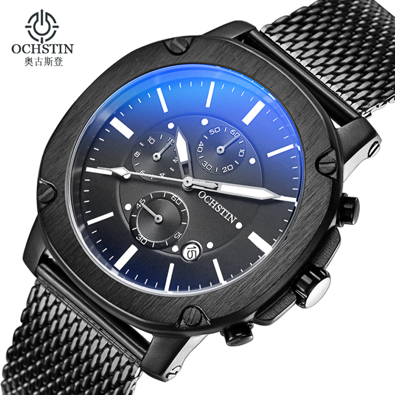 ФОТО Casual Sport Men Watches Top Brand Luxury Watch Men Stainless Steel Men Watch Chronograph Military Quartz Wristwatch Male Clock