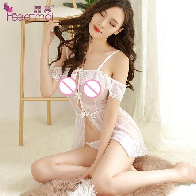 online shop new sexy lingerie hot erotic women transparent lace porn