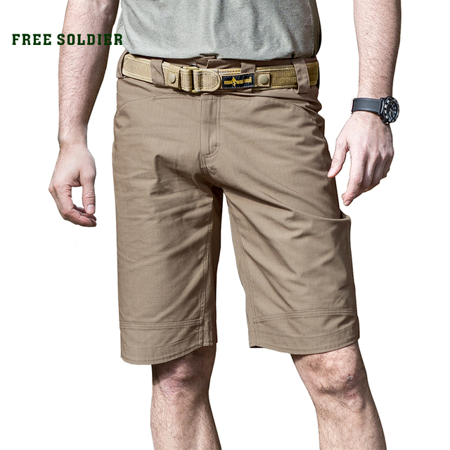 FREE SOLDIER Outdoor Tactical Camping Hiking Shorts Wear Proof Breathable Breeches Spring Summer Mens
